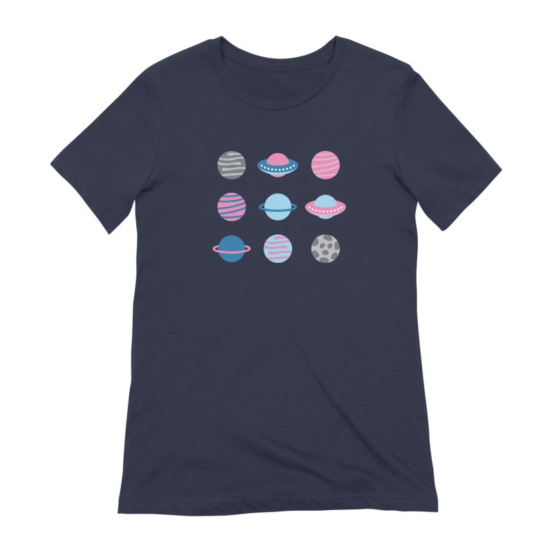 Universe & Planets Pattern Women's Extra Soft T-Shirt by abstractocreate's Artist Shop