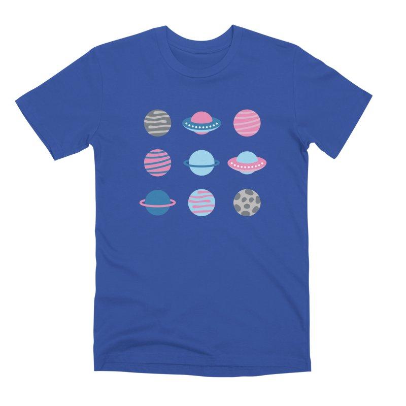 Universe & Planets Pattern Men's Premium T-Shirt by abstractocreate's Artist Shop