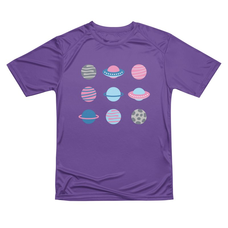 Universe & Planets Pattern Women's Performance Unisex T-Shirt by abstractocreate's Artist Shop