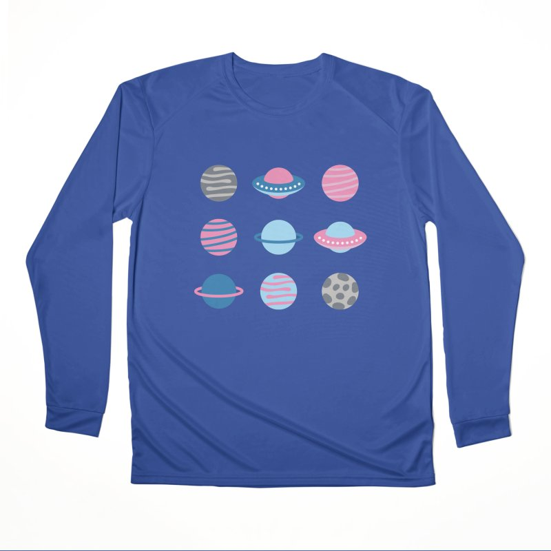 Universe & Planets Pattern Women's Performance Unisex Longsleeve T-Shirt by abstractocreate's Artist Shop