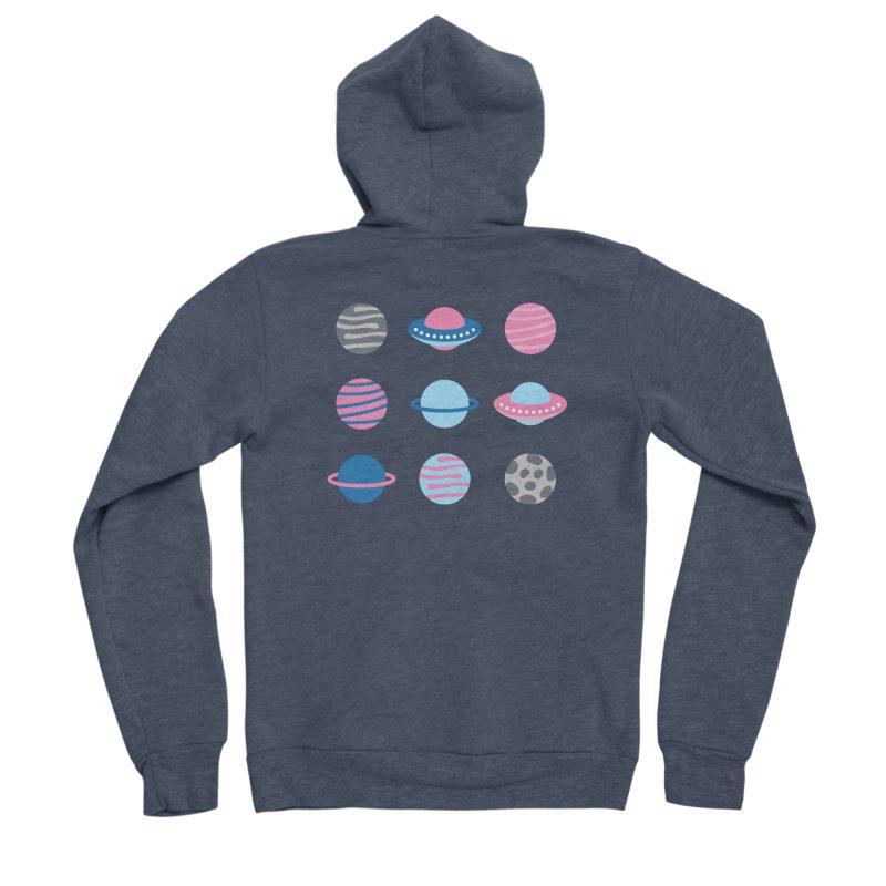 Universe & Planets Pattern Men's Sponge Fleece Zip-Up Hoody by abstractocreate's Artist Shop