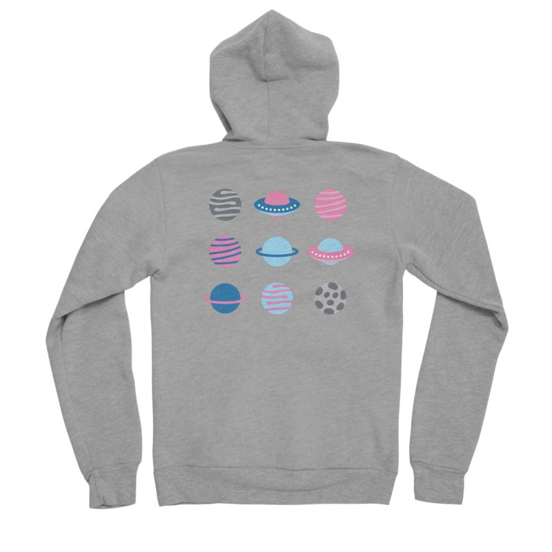 Universe & Planets Pattern Women's Sponge Fleece Zip-Up Hoody by abstractocreate's Artist Shop