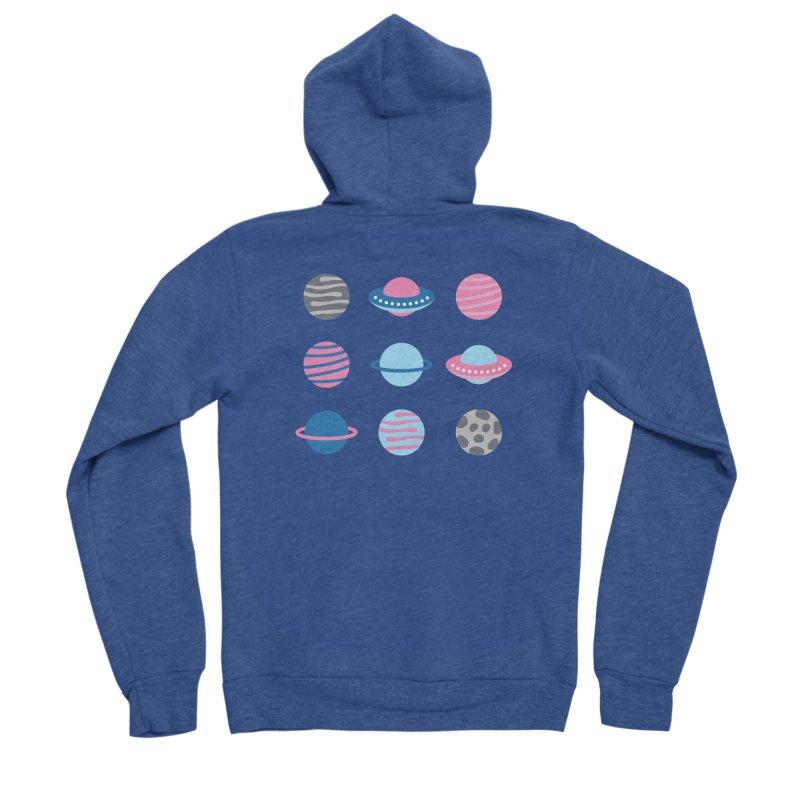 Universe & Planets Pattern Women's Sponge Fleece Zip-Up Hoody by abstractocreate's Artist Shop