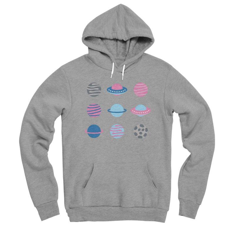 Universe & Planets Pattern Women's Sponge Fleece Pullover Hoody by abstractocreate's Artist Shop