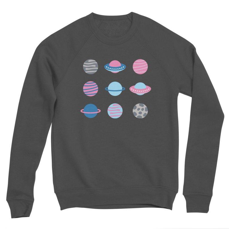 Universe & Planets Pattern Women's Sponge Fleece Sweatshirt by abstractocreate's Artist Shop
