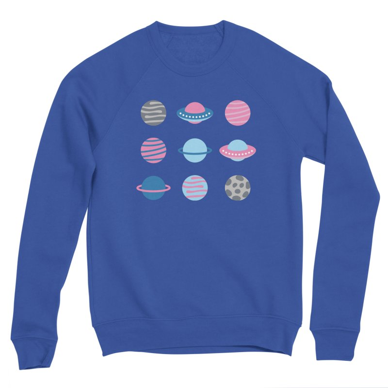 Universe & Planets Pattern Women's Sponge Fleece Sweatshirt by abstractocreate's Artist Shop