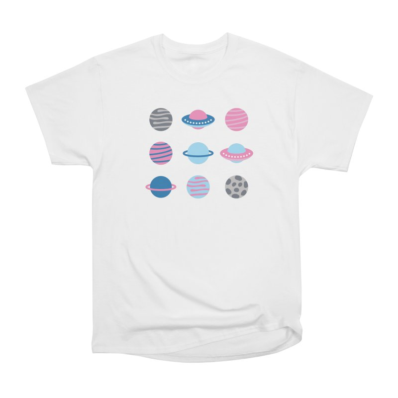 Universe & Planets Pattern Women's Heavyweight Unisex T-Shirt by abstractocreate's Artist Shop