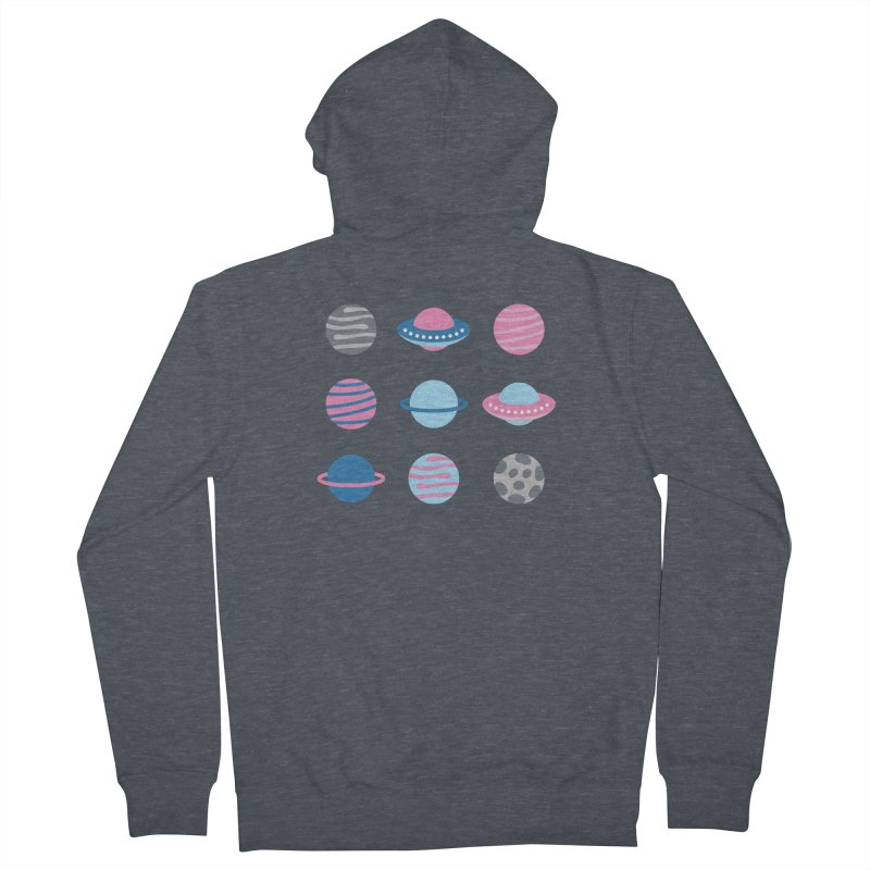 Universe & Planets Pattern Women's French Terry Zip-Up Hoody by abstractocreate's Artist Shop