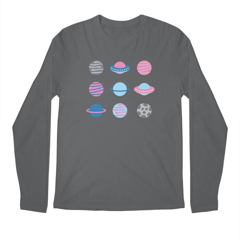 Universe & Planets Pattern Men's Regular Longsleeve T-Shirt by abstractocreate's Artist Shop
