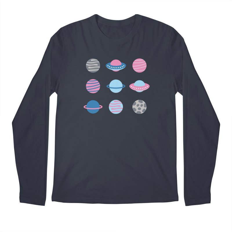 Universe & Planets Pattern Men's Regular Longsleeve T-Shirt by abstractocreate's Artist Shop