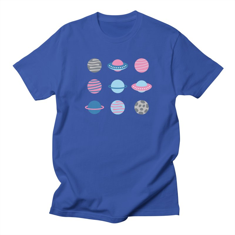 Universe & Planets Pattern Men's Regular T-Shirt by abstractocreate's Artist Shop