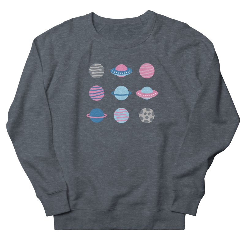 Universe & Planets Pattern Women's French Terry Sweatshirt by abstractocreate's Artist Shop