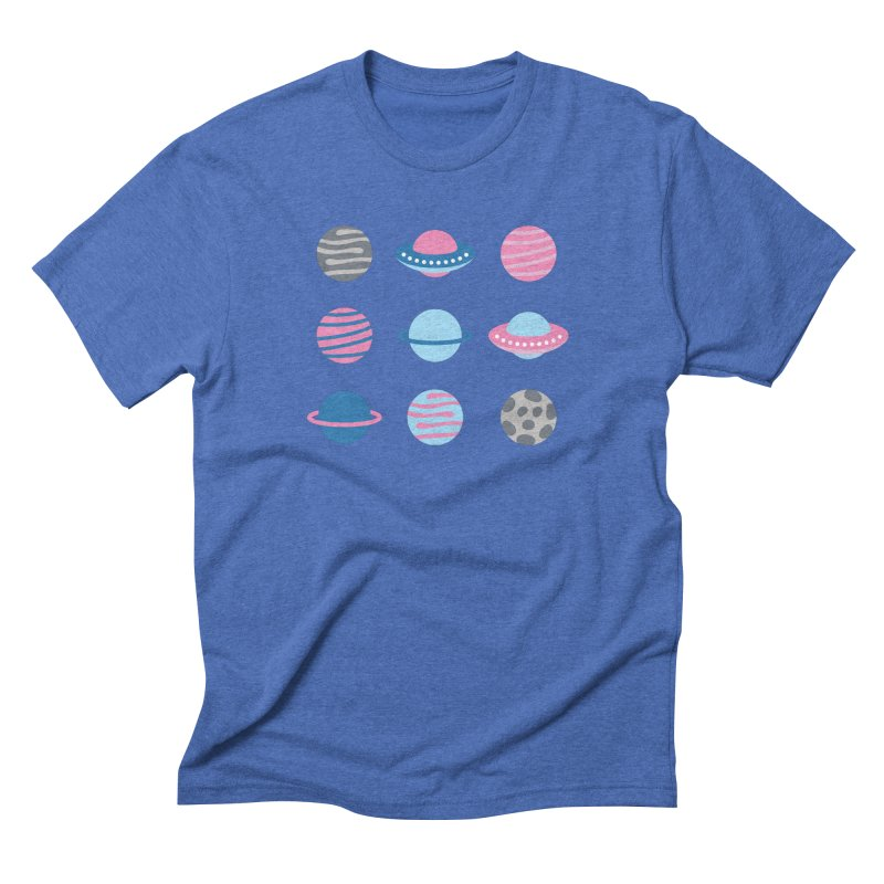 Universe & Planets Pattern Men's Triblend T-Shirt by abstractocreate's Artist Shop