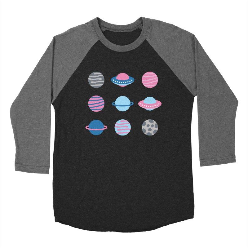 Universe & Planets Pattern Men's Baseball Triblend Longsleeve T-Shirt by abstractocreate's Artist Shop
