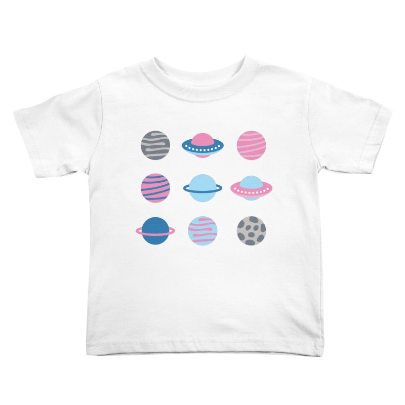 Universe & Planets Pattern Kids Toddler T-Shirt by abstractocreate's Artist Shop