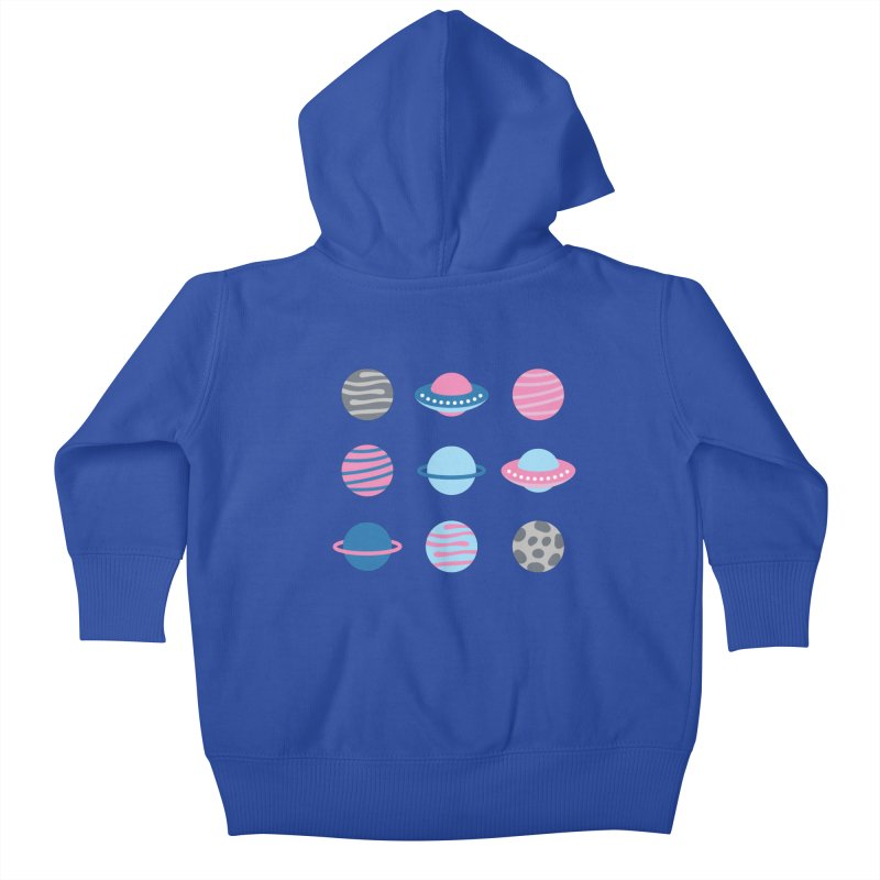 Universe & Planets Pattern Kids Baby Zip-Up Hoody by abstractocreate's Artist Shop