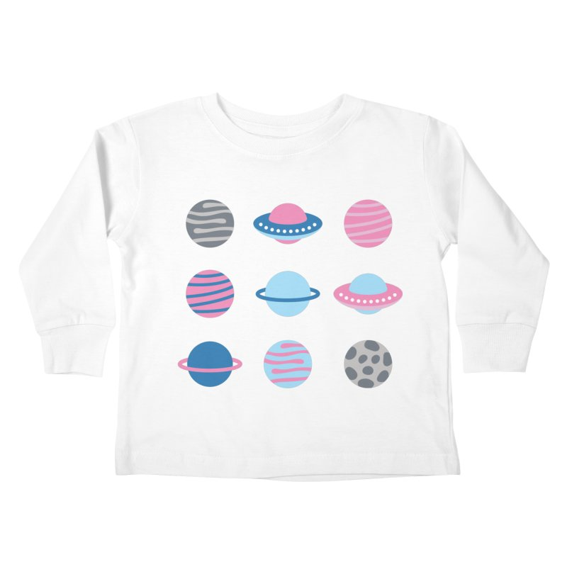 Universe & Planets Pattern Kids Toddler Longsleeve T-Shirt by abstractocreate's Artist Shop
