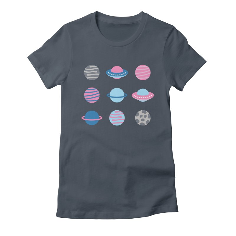 Universe & Planets Pattern Women's T-Shirt by abstractocreate's Artist Shop