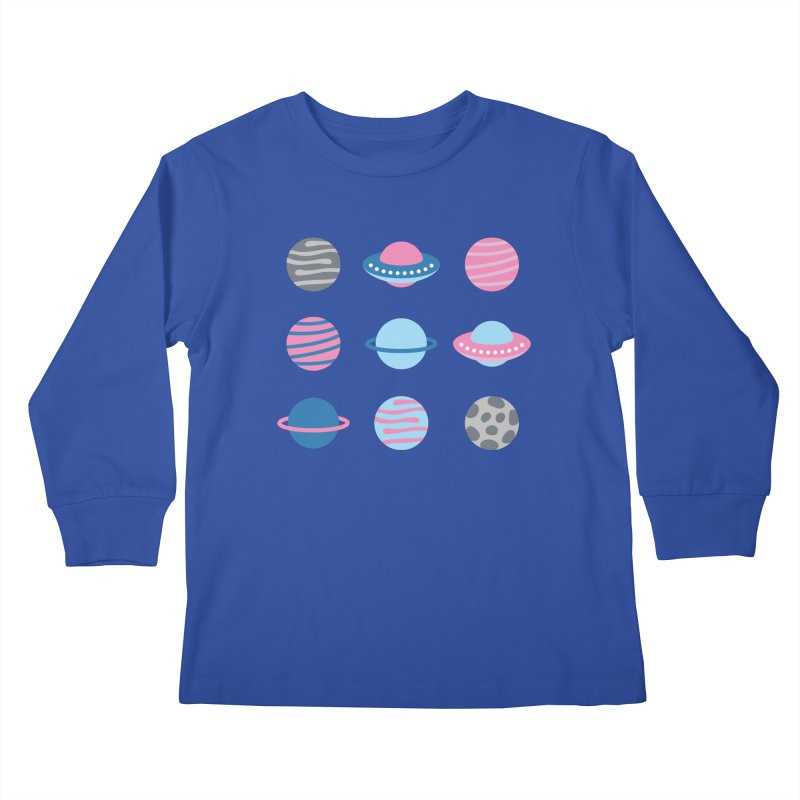 Universe & Planets Pattern Kids Longsleeve T-Shirt by abstractocreate's Artist Shop