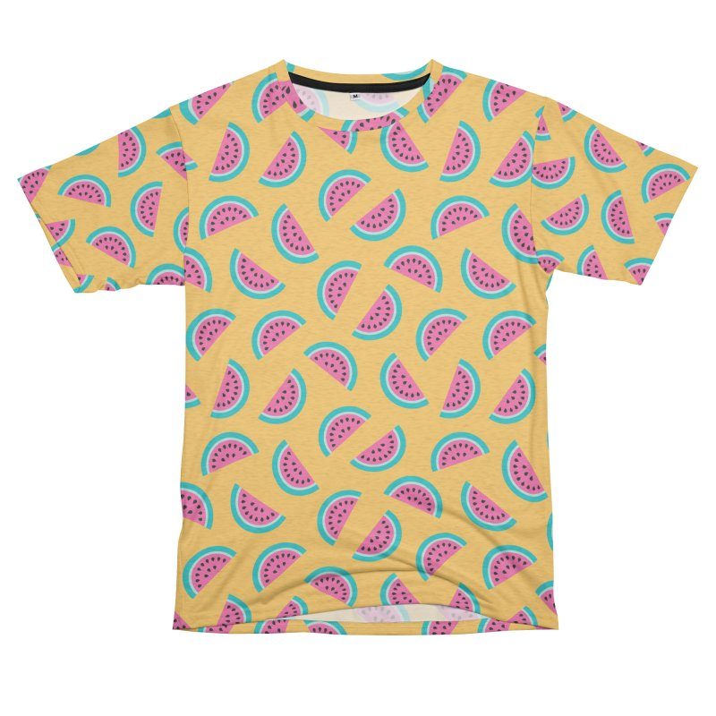 Summer Watermelon Pattern Men's French Terry T-Shirt Cut & Sew by abstractocreate's Artist Shop