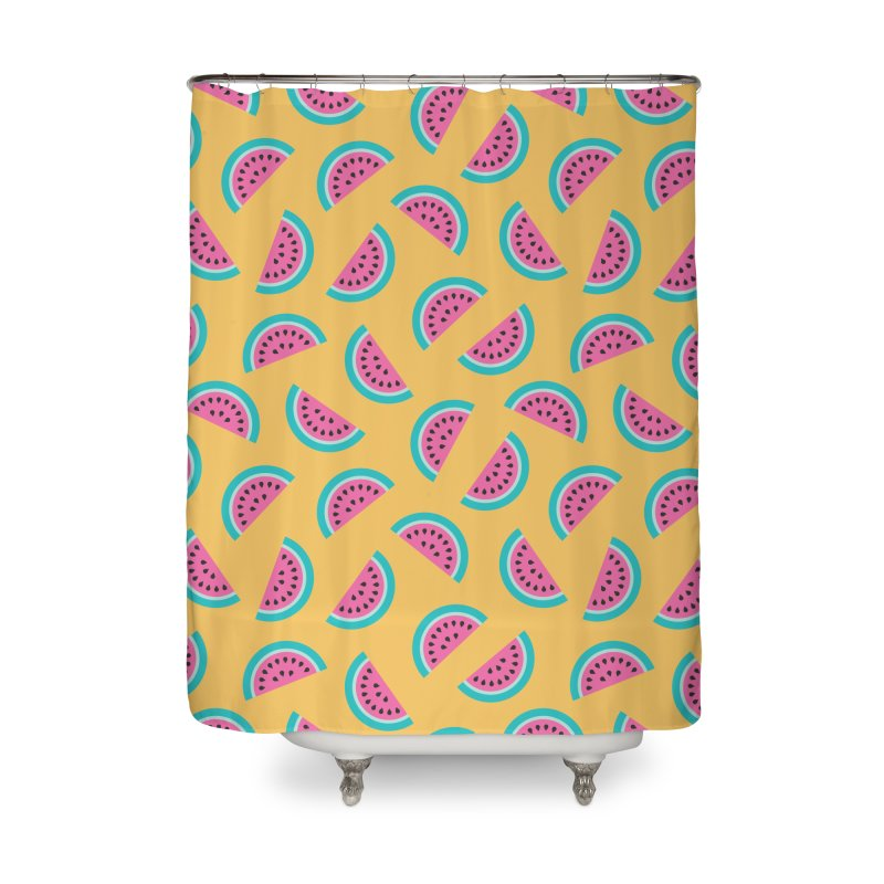 Summer Watermelon Pattern Home Shower Curtain by abstractocreate's Artist Shop