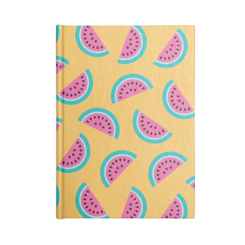Summer Watermelon Pattern Accessories Lined Journal Notebook by abstractocreate's Artist Shop
