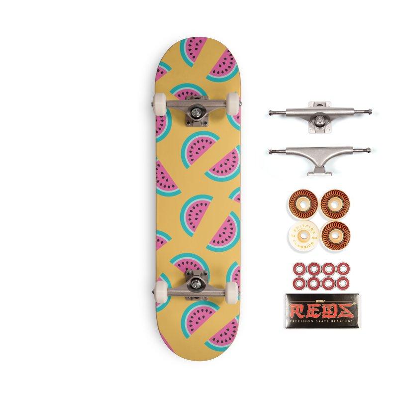 Summer Watermelon Pattern Accessories Skateboard by abstractocreate's Artist Shop