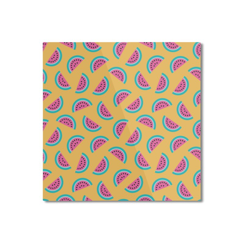 Summer Watermelon Pattern Home Mounted Aluminum Print by abstractocreate's Artist Shop