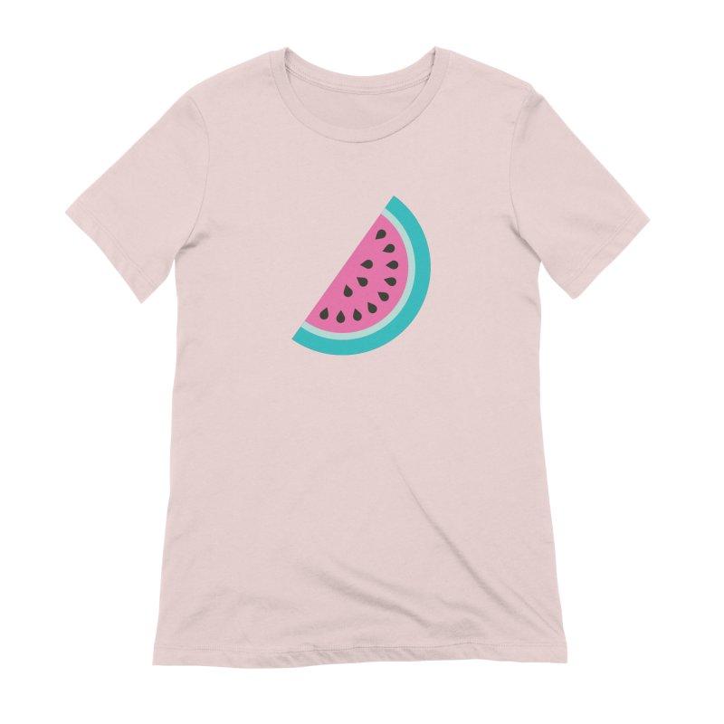 Summer Watermelon Pattern Women's Extra Soft T-Shirt by abstractocreate's Artist Shop