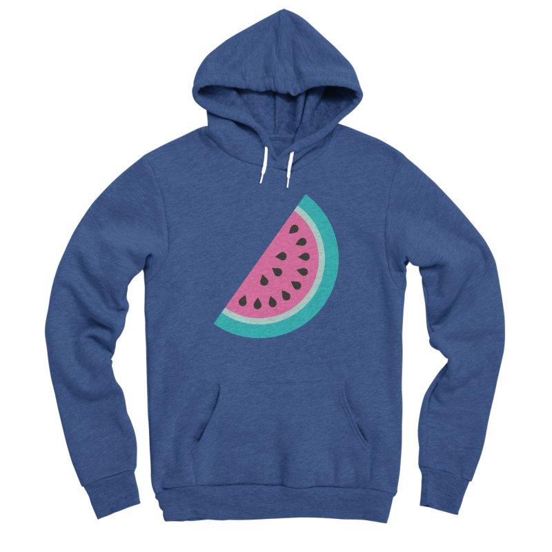 Summer Watermelon Pattern Men's Sponge Fleece Pullover Hoody by abstractocreate's Artist Shop