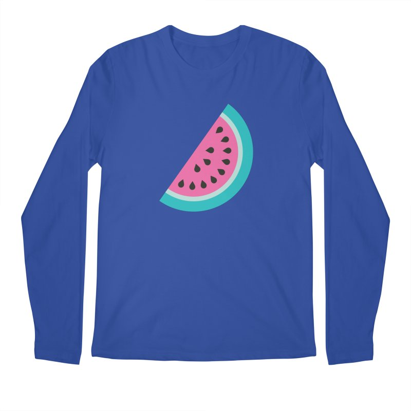 Summer Watermelon Pattern Men's Regular Longsleeve T-Shirt by abstractocreate's Artist Shop