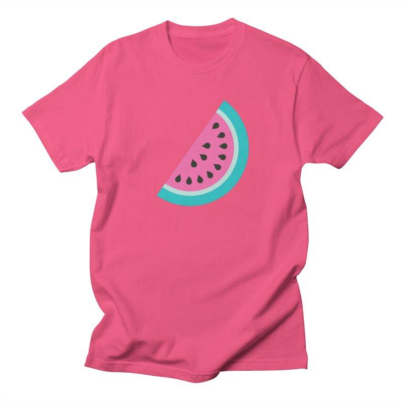 Summer Watermelon Pattern Men's Regular T-Shirt by abstractocreate's Artist Shop