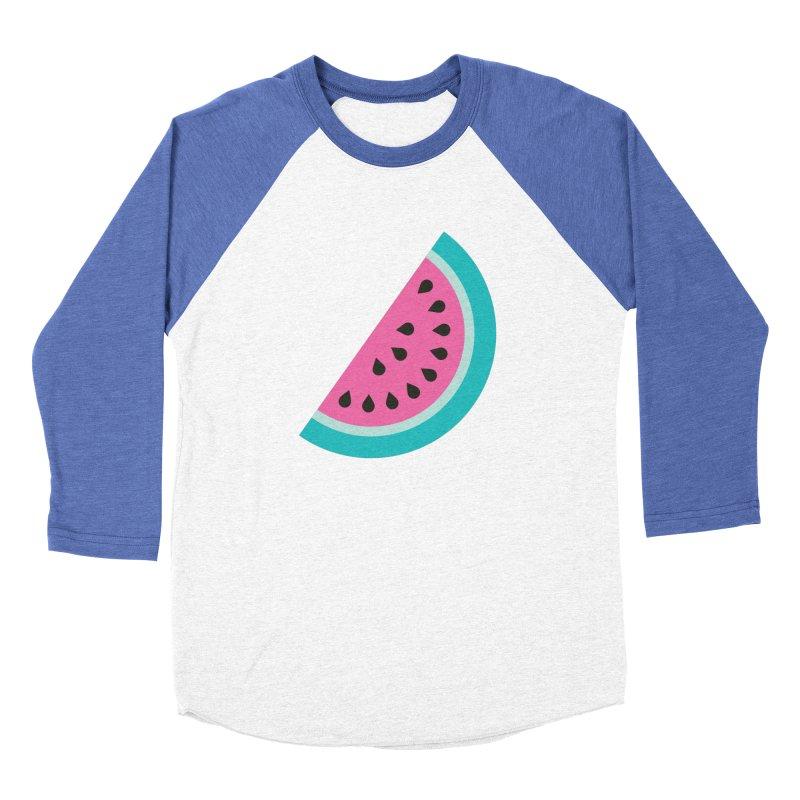 Summer Watermelon Pattern Men's Baseball Triblend Longsleeve T-Shirt by abstractocreate's Artist Shop