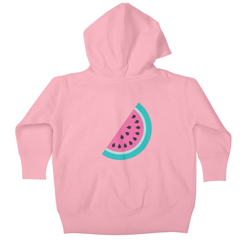 Summer Watermelon Pattern Kids Baby Zip-Up Hoody by abstractocreate's Artist Shop