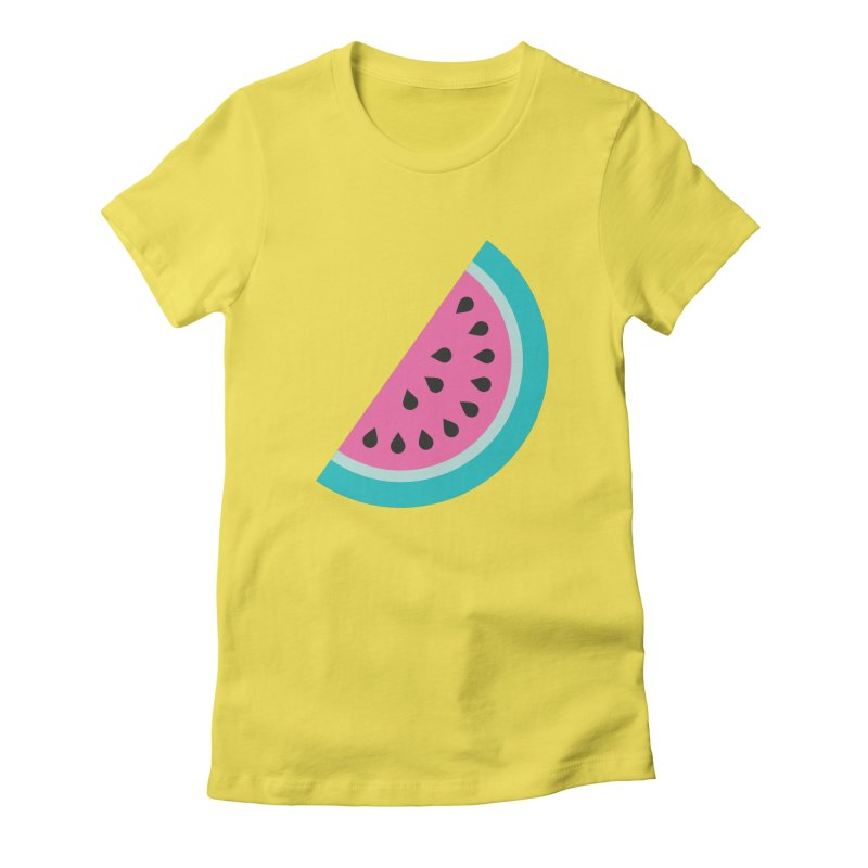 Summer Watermelon Pattern Women's Fitted T-Shirt by abstractocreate's Artist Shop