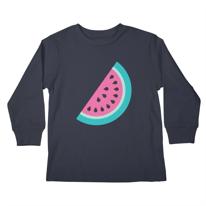 Summer Watermelon Pattern Kids Longsleeve T-Shirt by abstractocreate's Artist Shop
