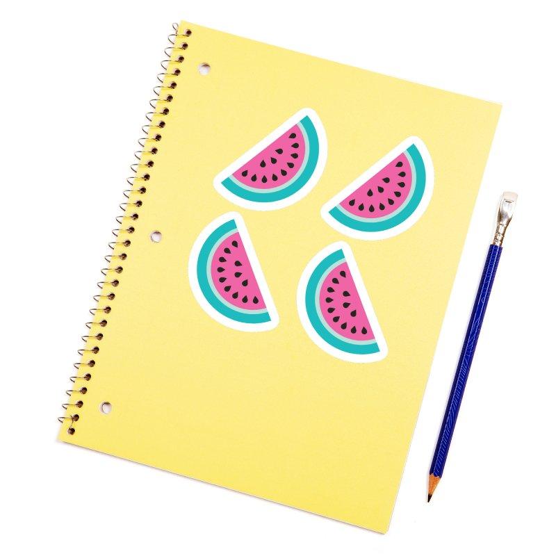Summer Watermelon Pattern Accessories Sticker by abstractocreate's Artist Shop