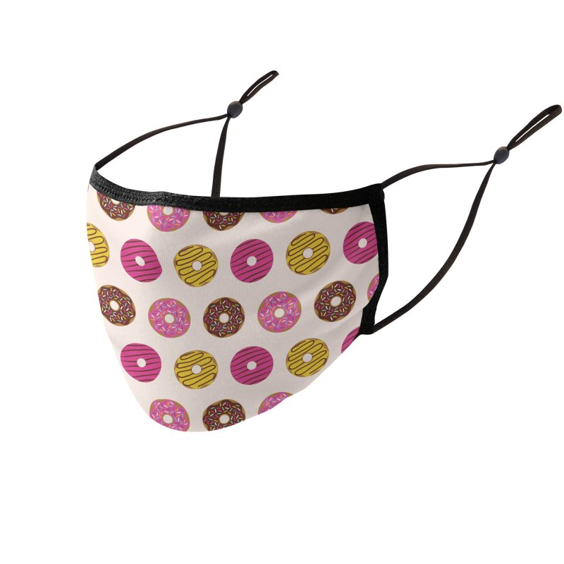 Sweet Donuts Pattern Accessories Face Mask by abstractocreate's Artist Shop