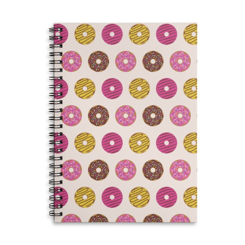Sweet Donuts Pattern Accessories Lined Spiral Notebook by abstractocreate's Artist Shop