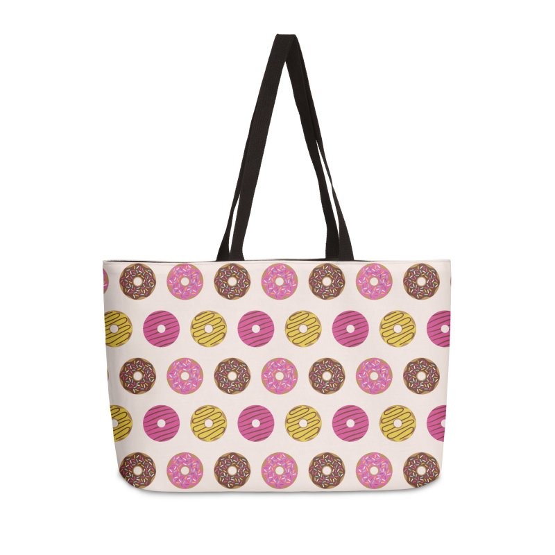 Sweet Donuts Pattern Accessories Weekender Bag Bag by abstractocreate's Artist Shop