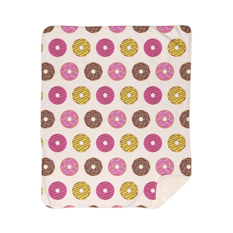 Sweet Donuts Pattern Home Sherpa Blanket Blanket by abstractocreate's Artist Shop