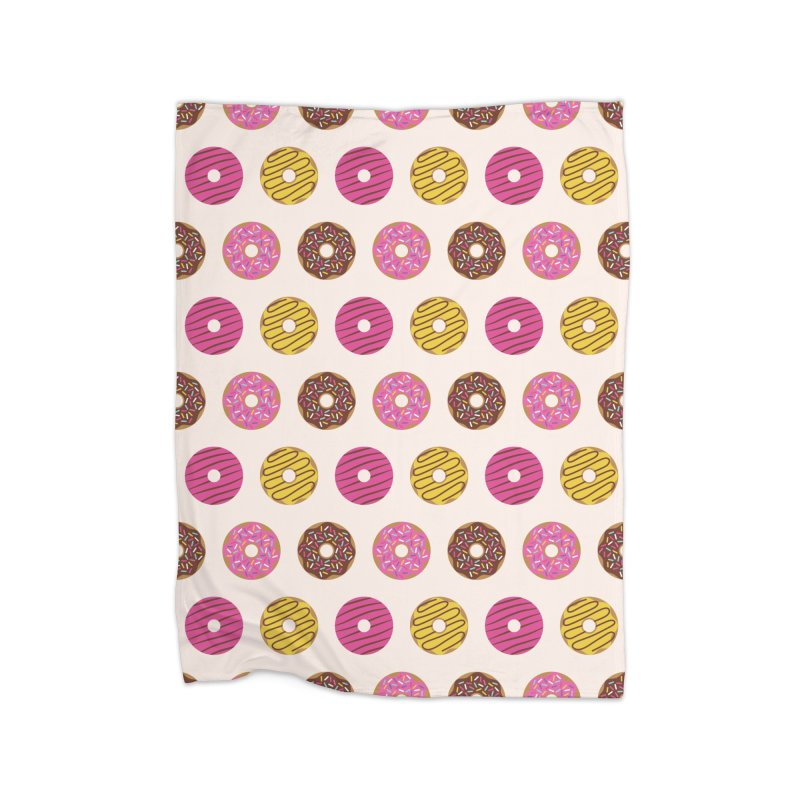 Sweet Donuts Pattern Home Fleece Blanket Blanket by abstractocreate's Artist Shop