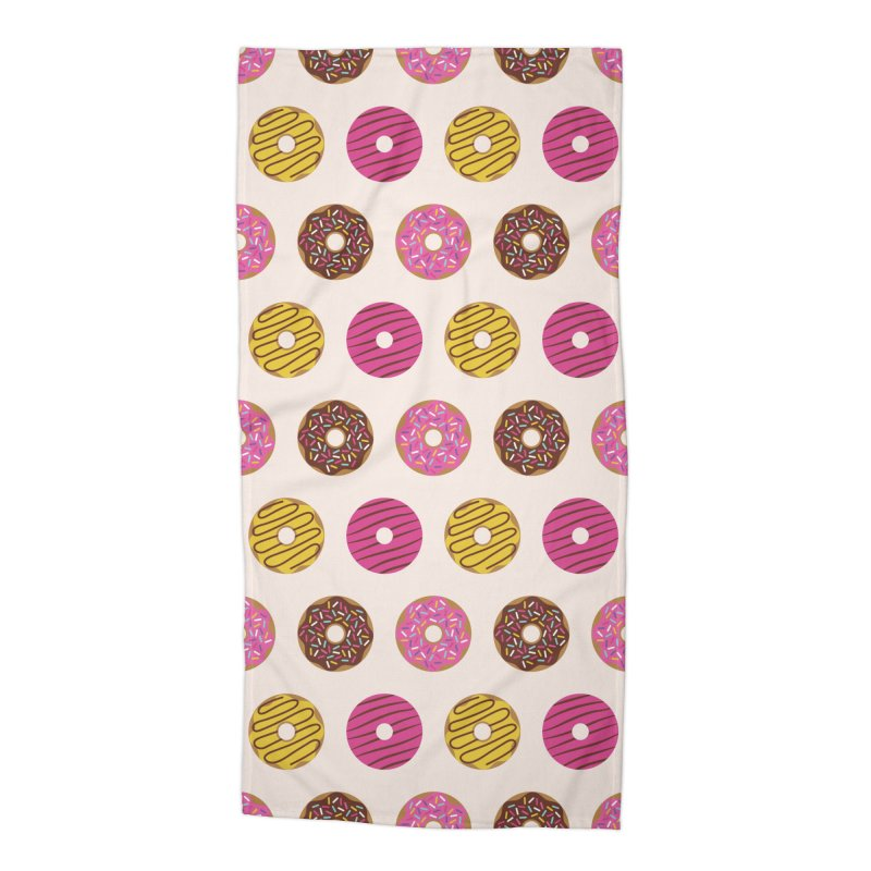 Sweet Donuts Pattern Accessories Beach Towel by abstractocreate's Artist Shop