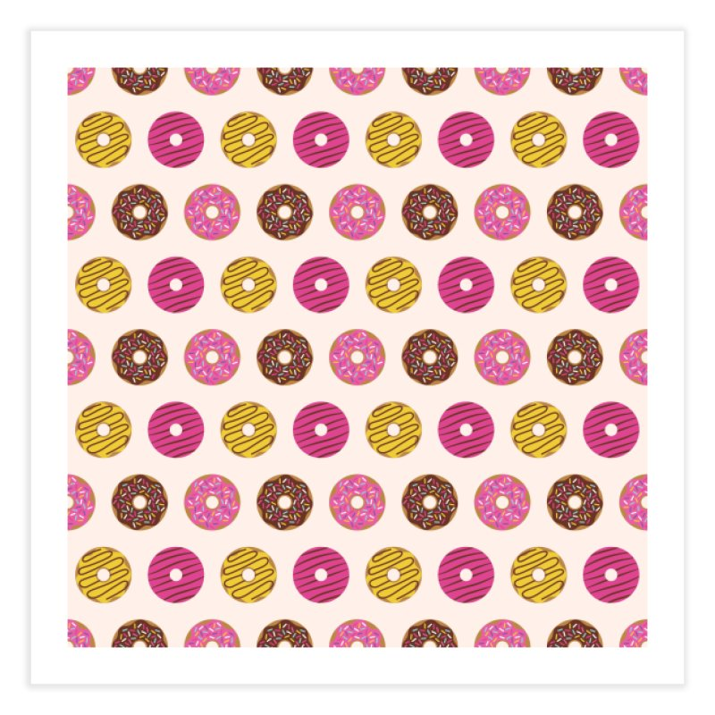 Sweet Donuts Pattern Home Fine Art Print by abstractocreate's Artist Shop