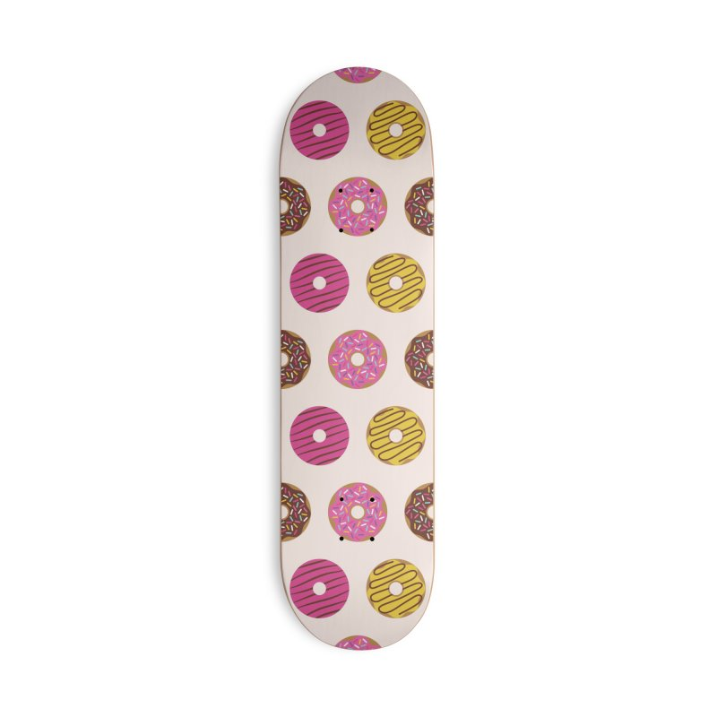 Sweet Donuts Pattern Accessories Deck Only Skateboard by abstractocreate's Artist Shop