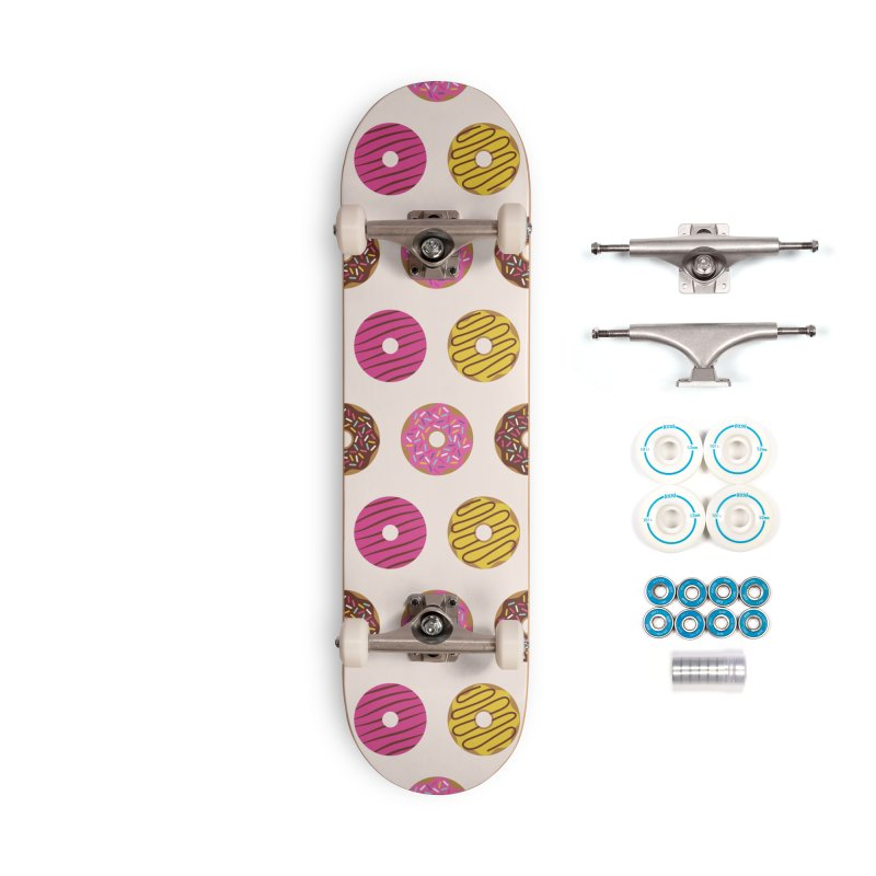 Sweet Donuts Pattern Accessories Skateboard by abstractocreate's Artist Shop