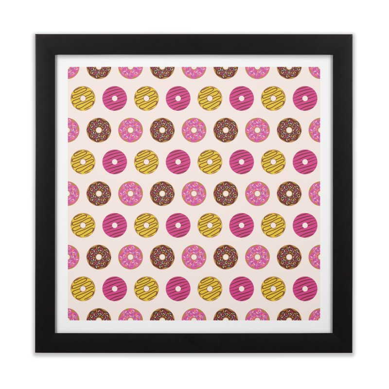 Sweet Donuts Pattern Home Framed Fine Art Print by abstractocreate's Artist Shop