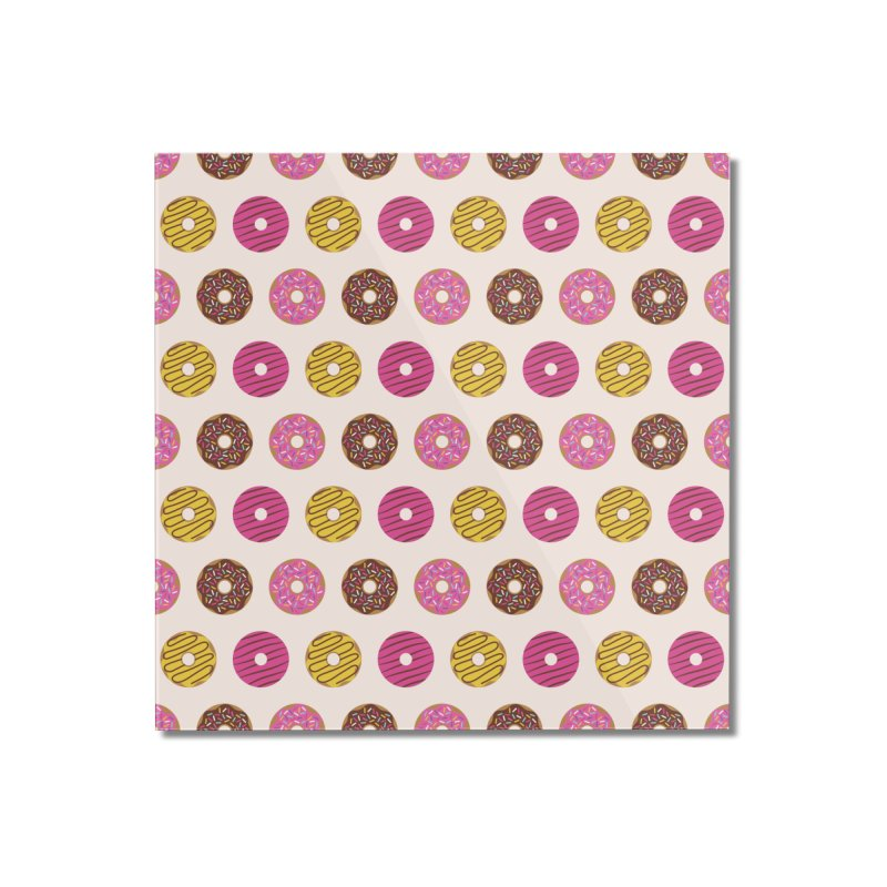 Sweet Donuts Pattern Home Mounted Acrylic Print by abstractocreate's Artist Shop
