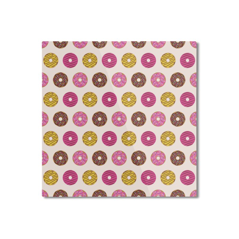 Sweet Donuts Pattern Home Mounted Aluminum Print by abstractocreate's Artist Shop