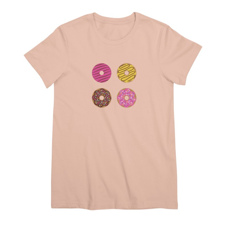 Sweet Donuts Pattern Women's Premium T-Shirt by abstractocreate's Artist Shop